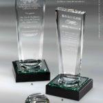レ・ビジュー ディアマン 光学ガラス製 表彰トロフィー Pouvoir(プヴォワール)力 りき