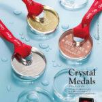 光学ガラス製クリスタルメダル ZNA-9044