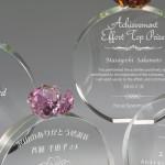 光学ガラス製2Dレーザー加工トロフィー RoseRing(ローズリング) Rose(薔薇)シリーズ