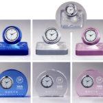 サンドブラスト加工クリスタル時計 ZE-354-1~6